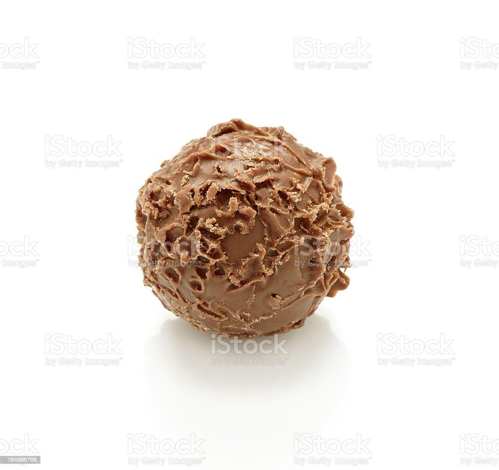 Single truffle royalty-free stock photo