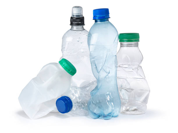 single use plastic bottle trash landfill - plastic stock pictures, royalty-free photos & images
