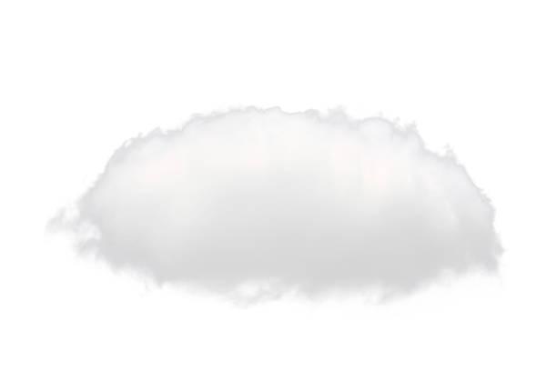 single white cloud isolated on white background stock photo