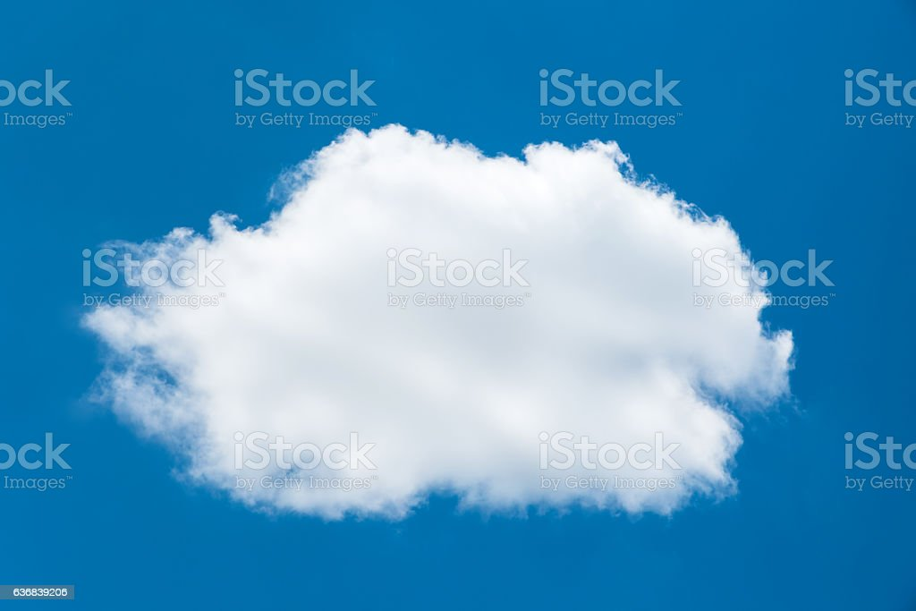 Single white clouds on blue sky stock photo