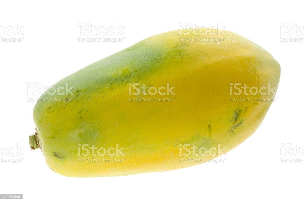 Single whole papaya royalty-free stock photo