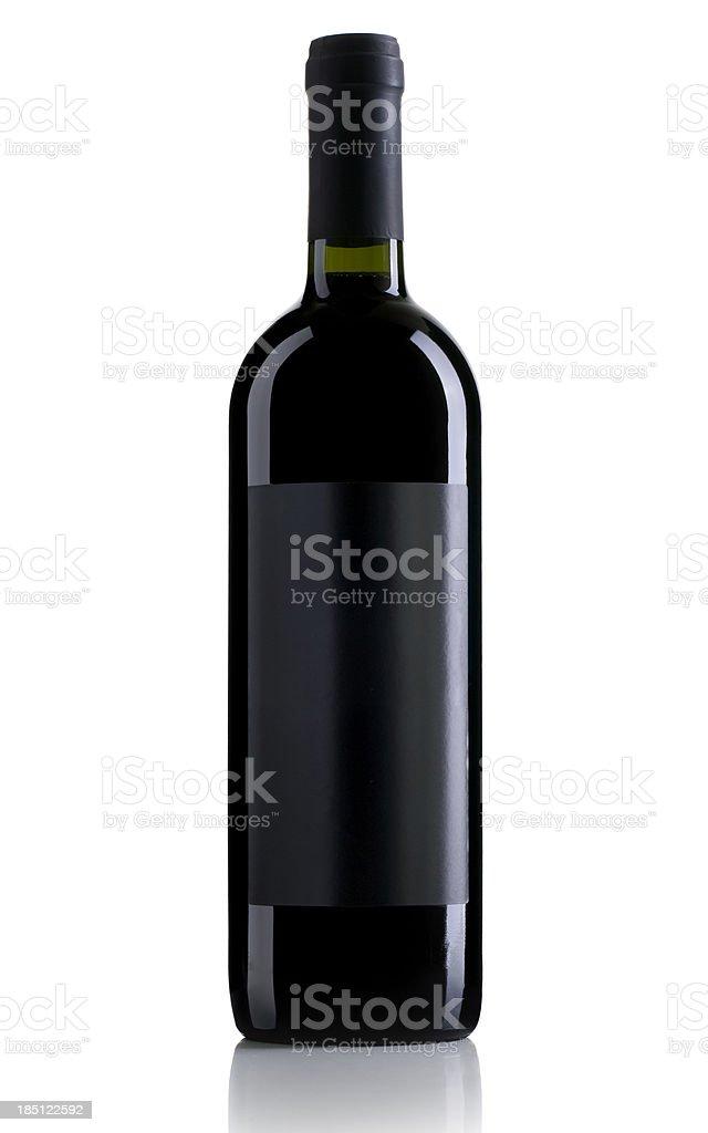 single Wine Bottle royalty-free stock photo