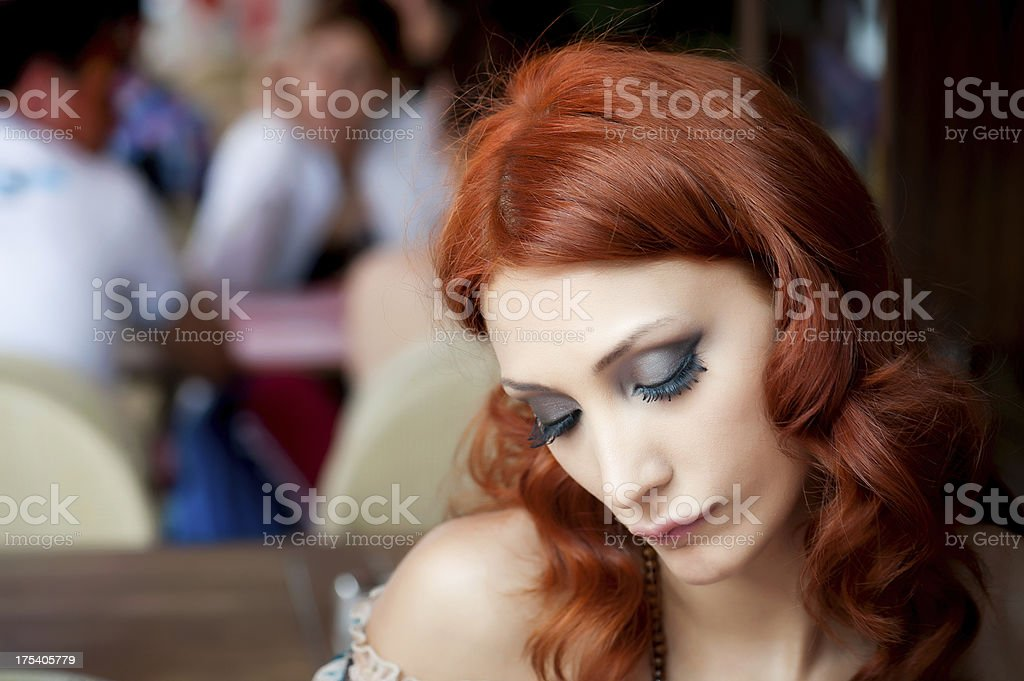 Single woman stock photo