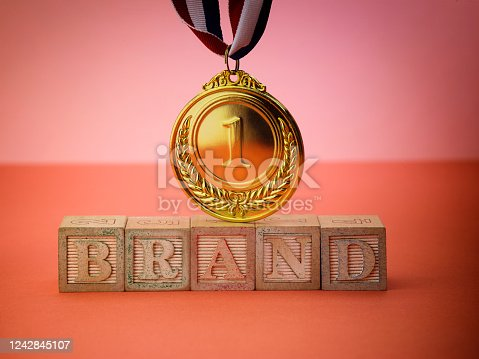 1140385944 istock photo single word brand and medal 1242845107