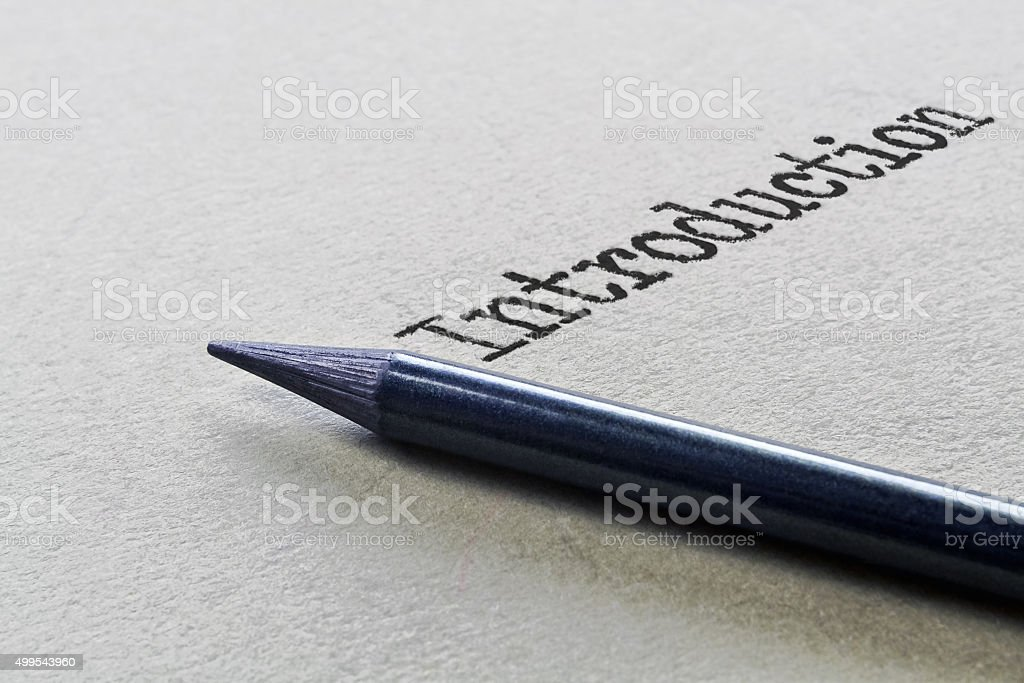 Single word Introduction stock photo