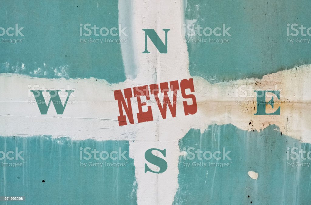 Single word News stock photo