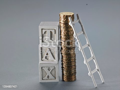 single word tax and ladder lean on coins