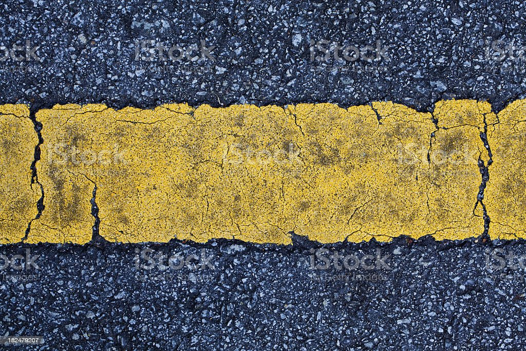 Single Yellow Line royalty-free stock photo