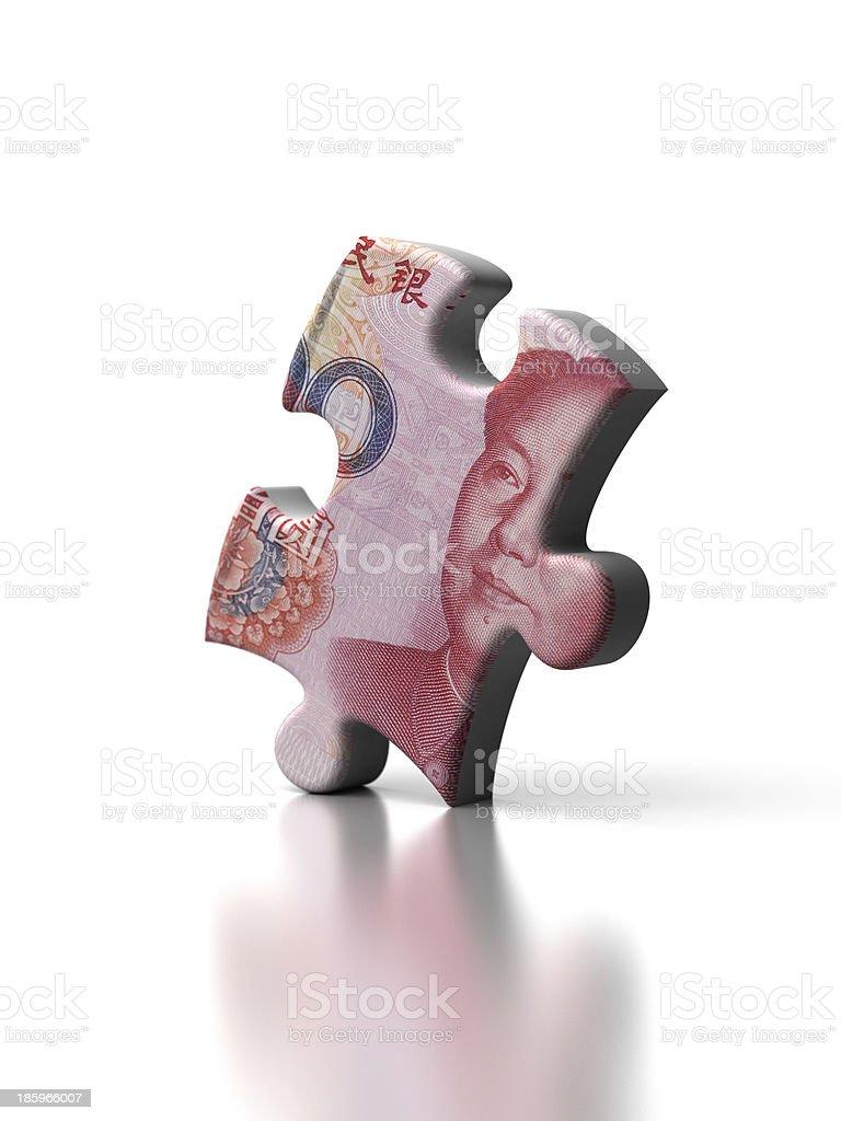 Single Yuan Puzzle royalty-free stock photo