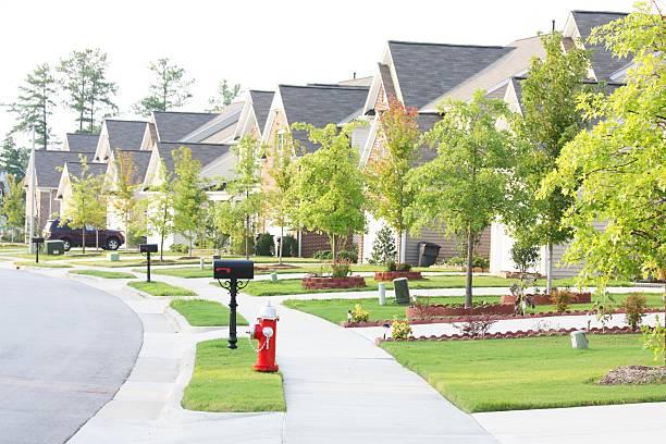 single-family-houses at RTP North Carolina stock photo
