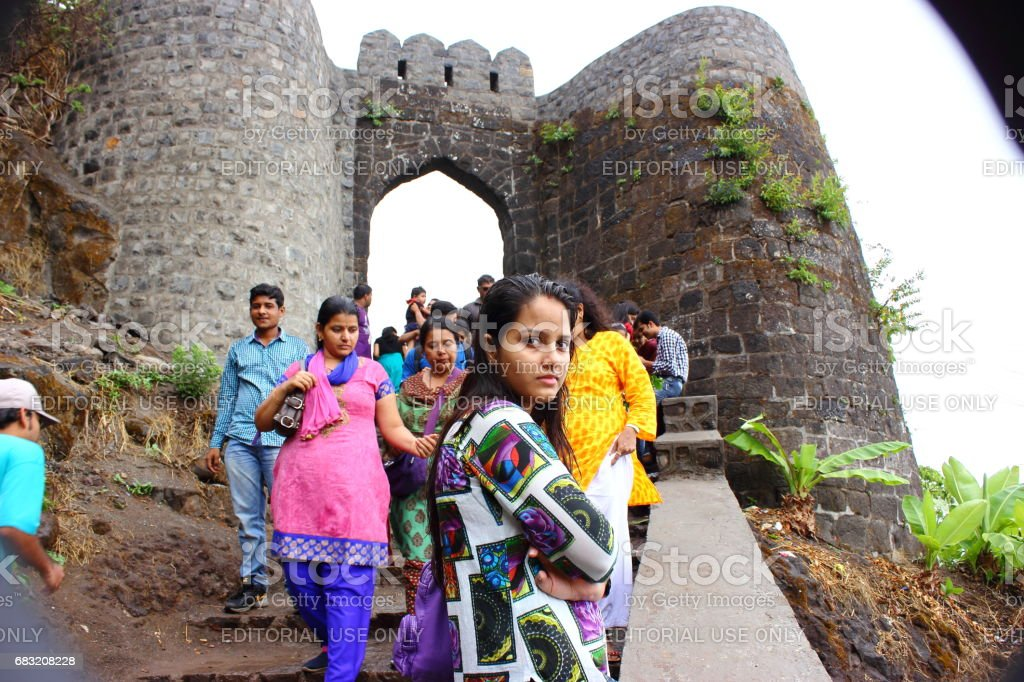 Sinhagad fort - A weekend gateway from Mumbai and Pune in Maharashtra, India royalty-free stock photo