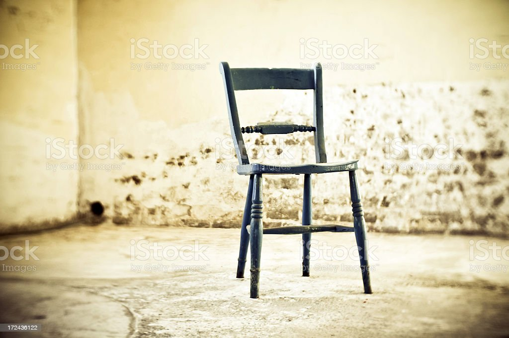 Sinister Cell with Chair stock photo