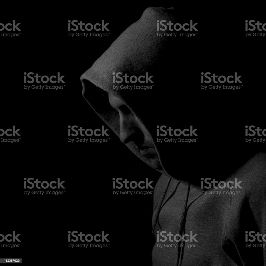 Sinister hooded figure royalty-free stock photo