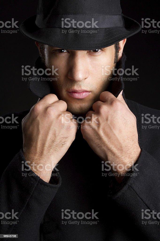 Sinister Man royalty-free stock photo