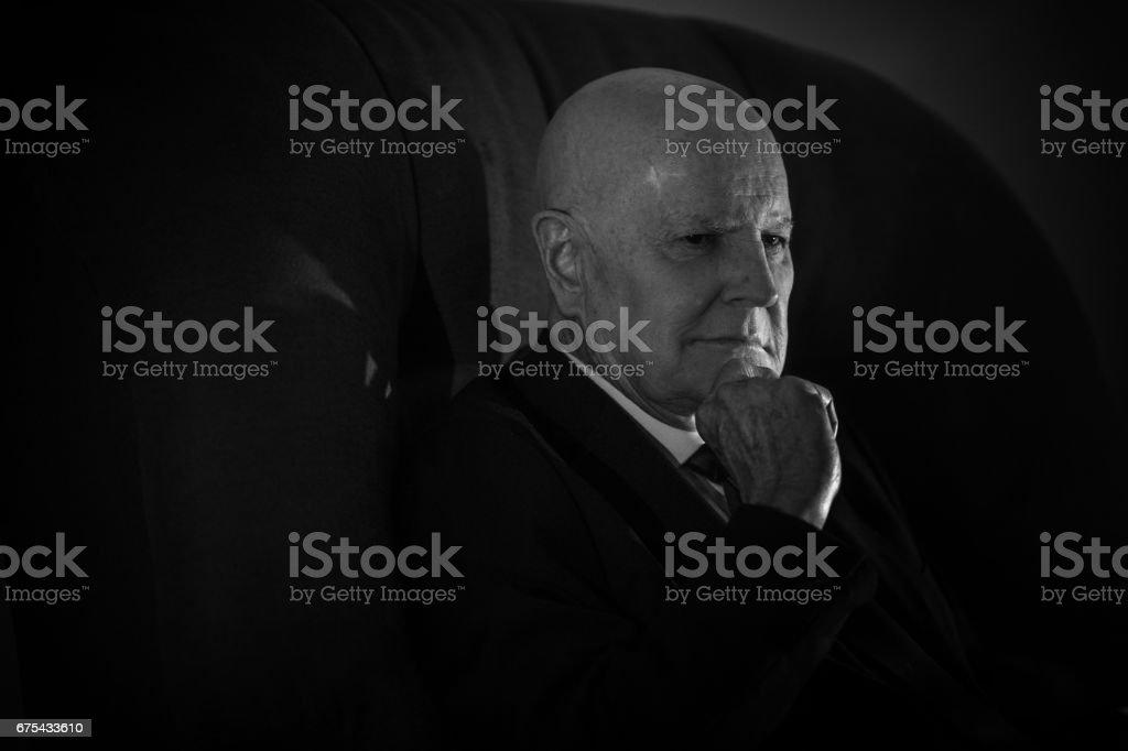 Uğursuz üst düzey iş adamı royalty-free stock photo