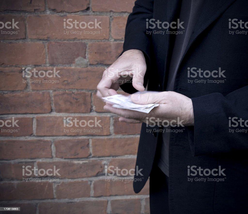 Sinister transaction royalty-free stock photo