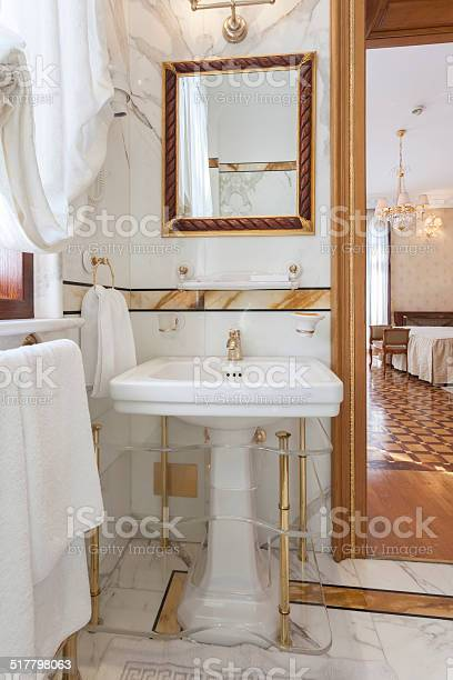 Fisheye View Of Mirror And Basin In A Luxury Bathroom Stock Photo Download Image Now Istock