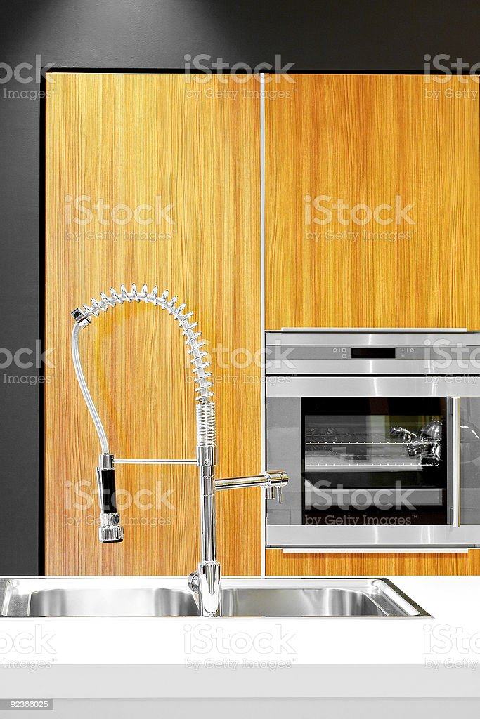 Sink and oven royalty-free stock photo