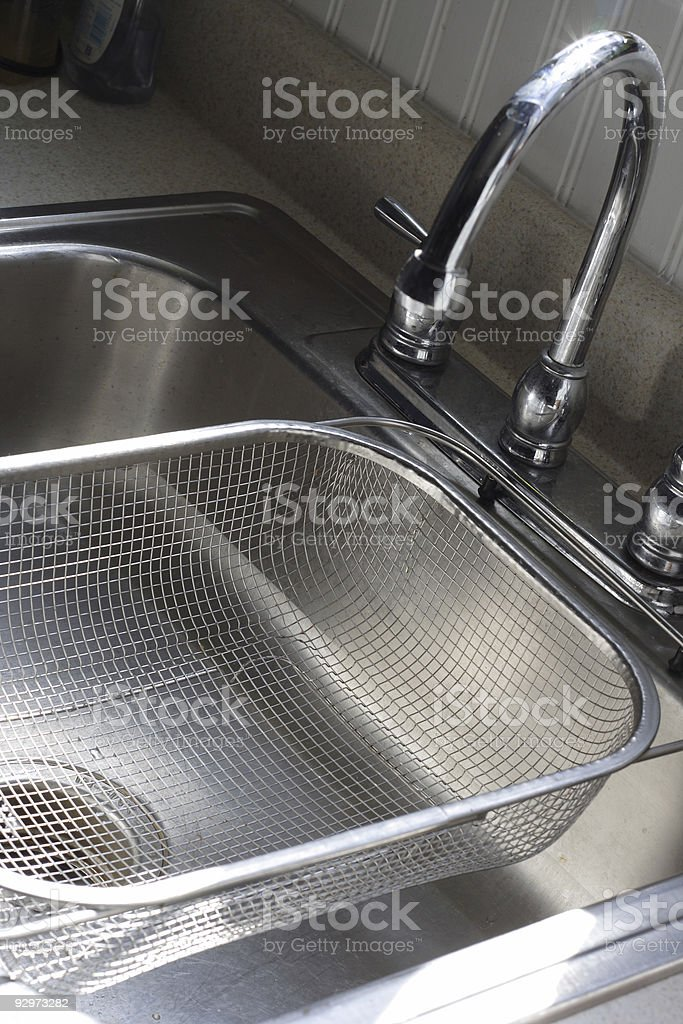 Sink and Strainer stock photo
