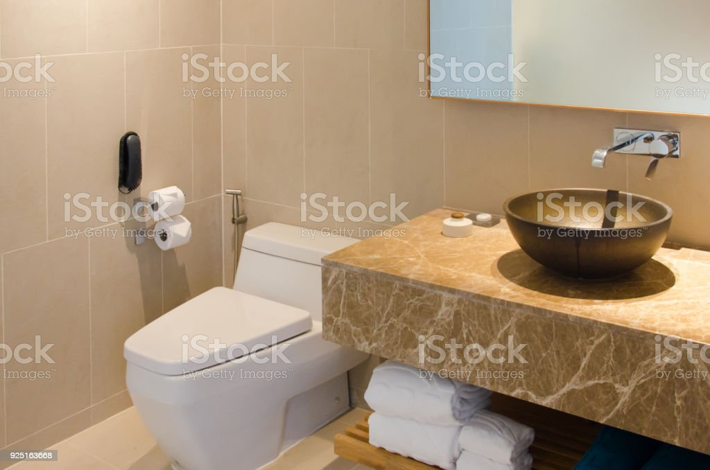 Sink And Toilet Bowl Stock Photo & More Pictures of Apartment | iStock