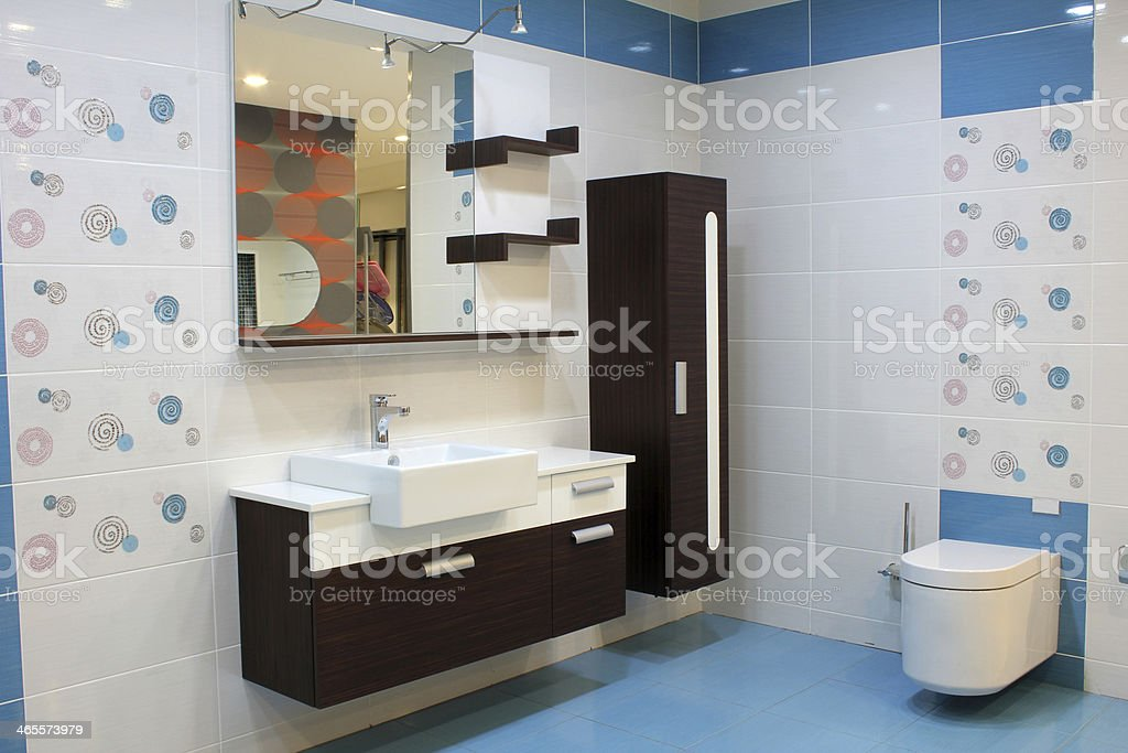 Sink and toilet royalty-free stock photo