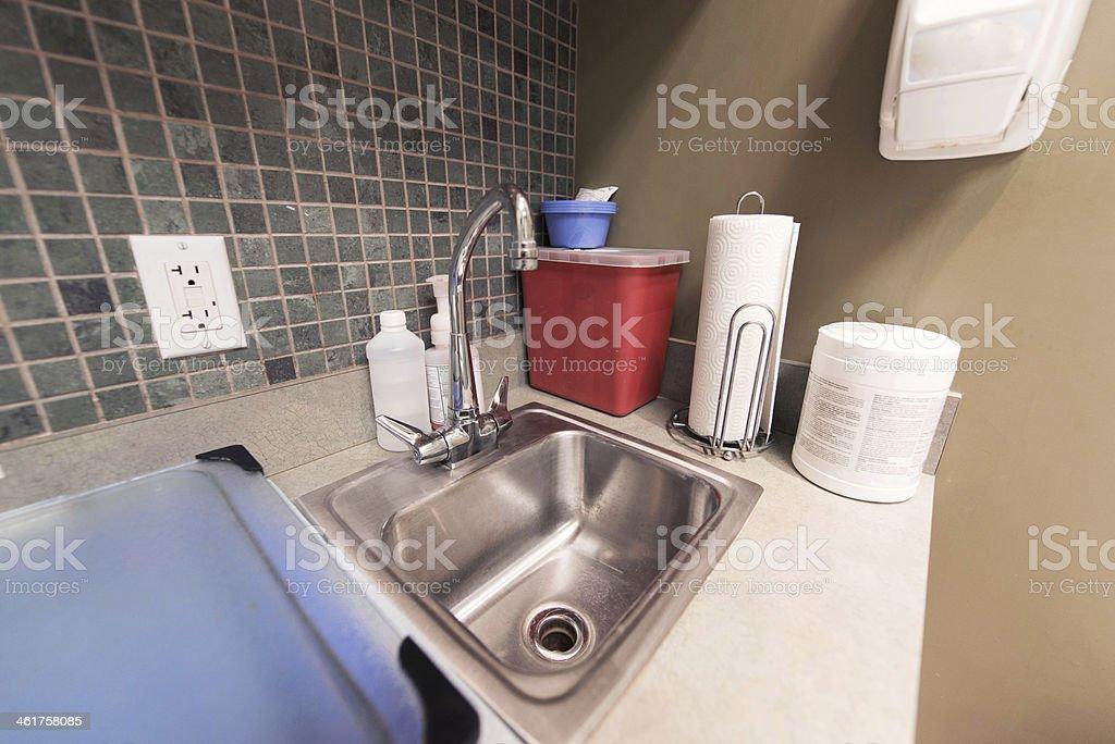 Sink at a medical facility royalty-free stock photo