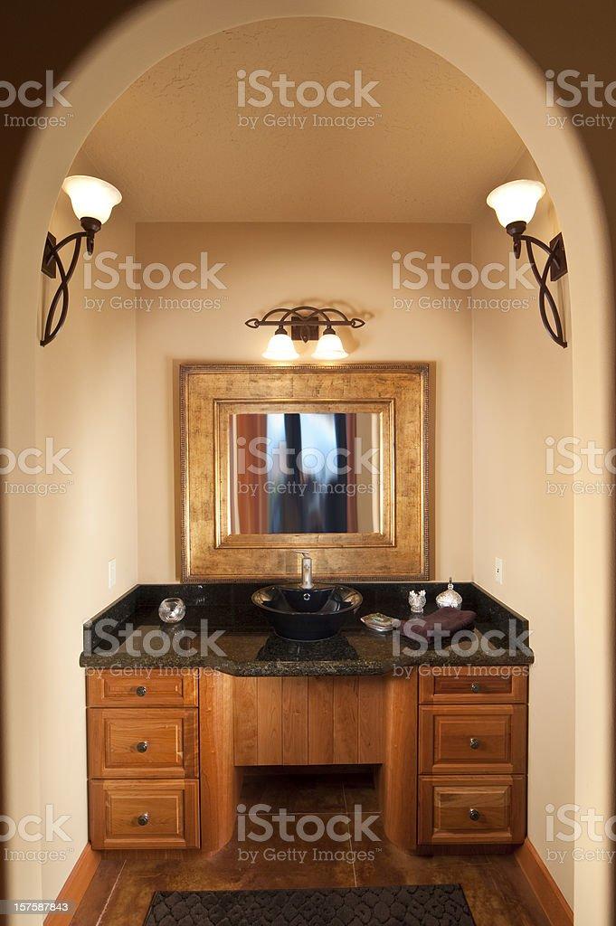 Sink in master bedroom stock photo
