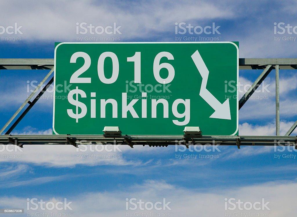 Sinking 2016 stock photo