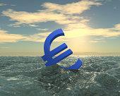 Sinking Euro. Metaphor