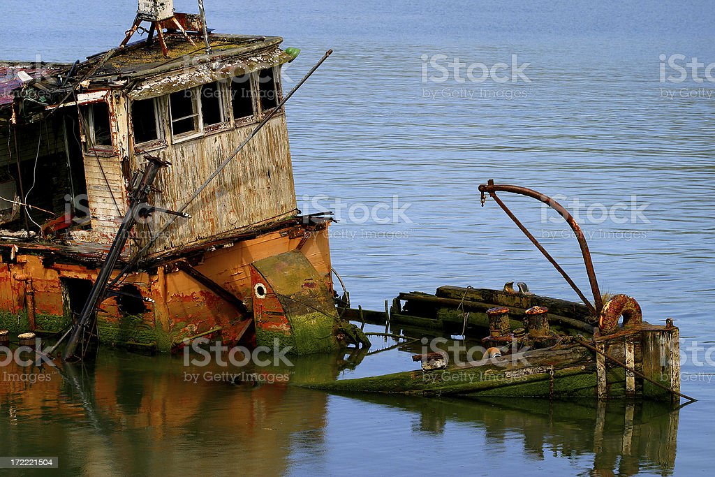 Sinking royalty-free stock photo