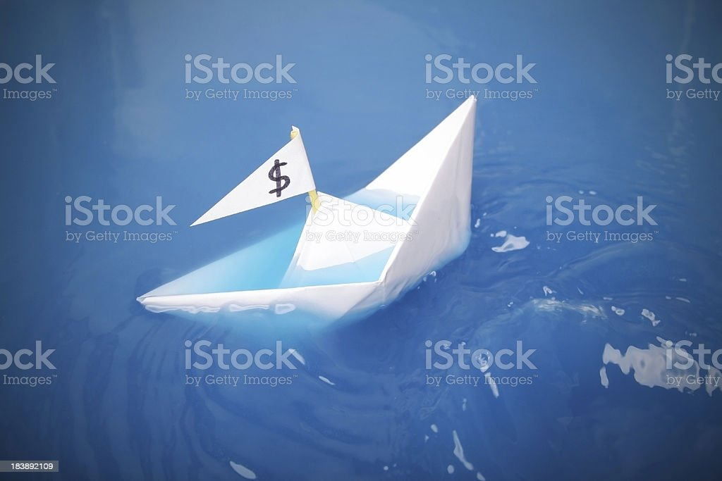 Sinking royalty-free stock photo