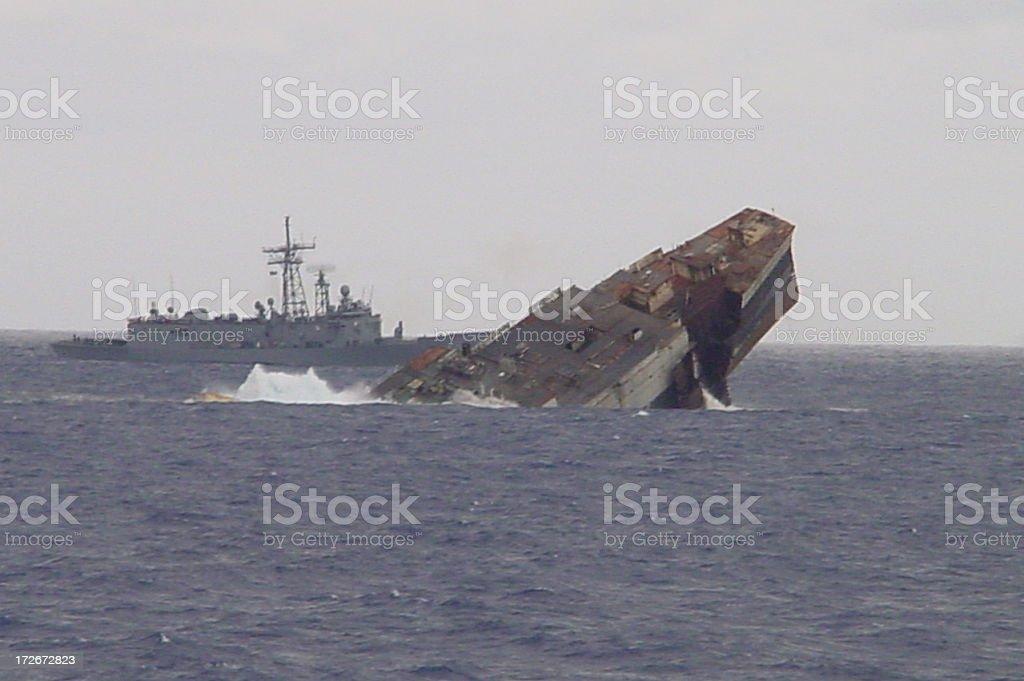 Sinking Ship 2 stock photo