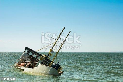 Passenger boat sinking