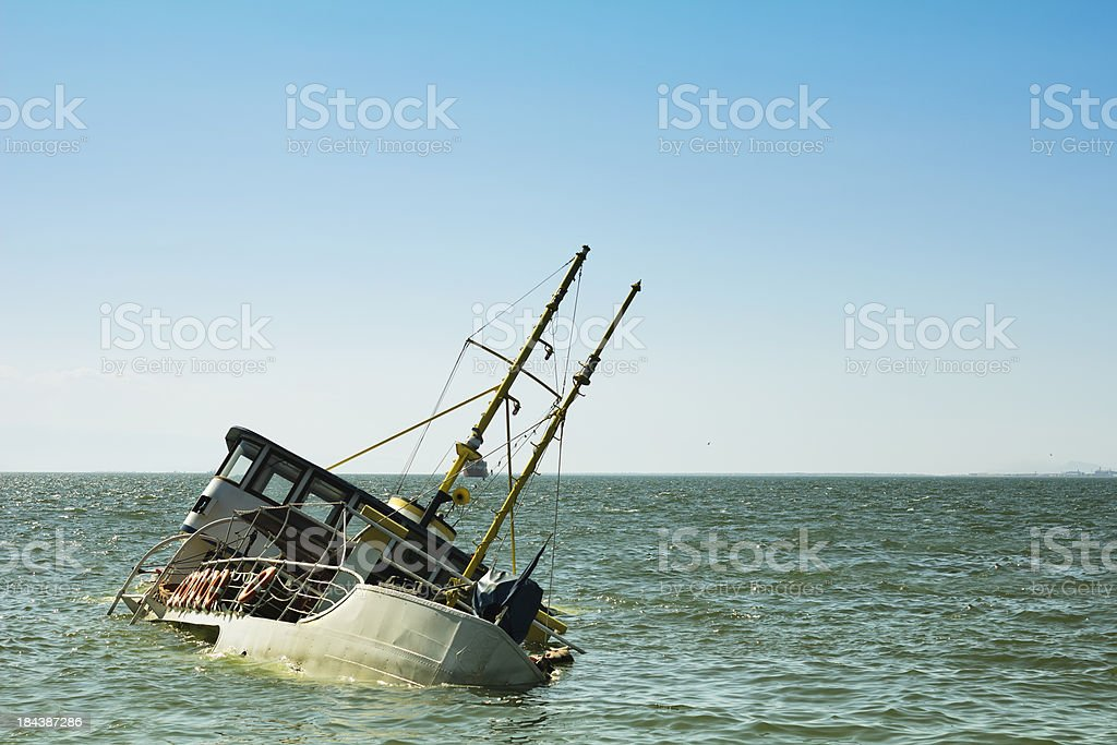 Sinking Ship stock photo