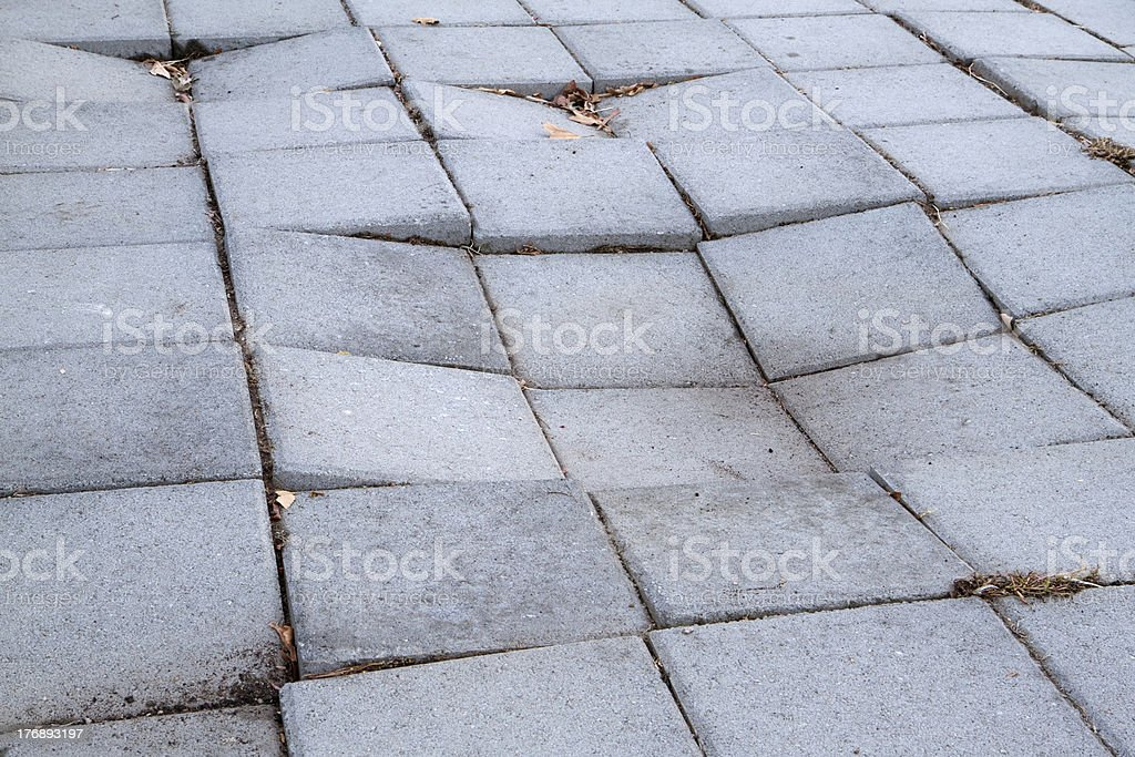 Sinking Sidewalk royalty-free stock photo