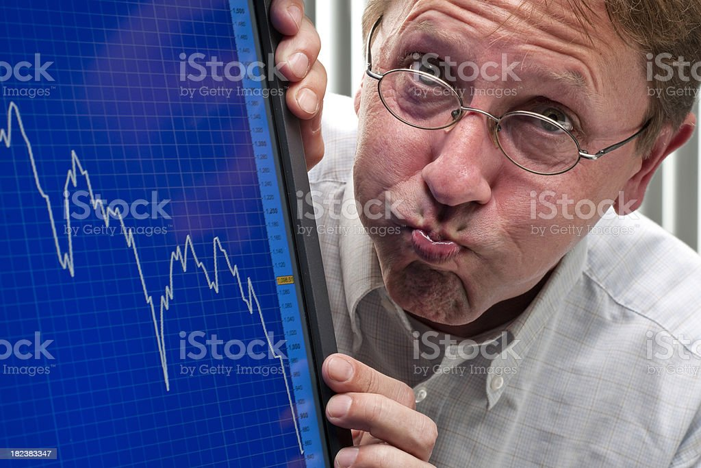 sinking stock exchange chart royalty-free stock photo