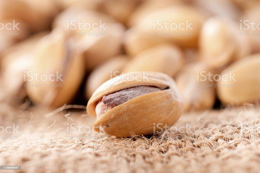 Sinle pistachio royalty-free stock photo