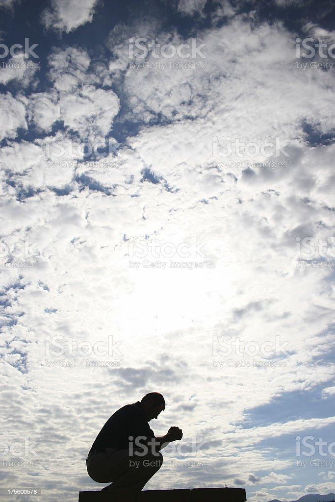 Sinner\\'s Prayer royalty-free stock photo