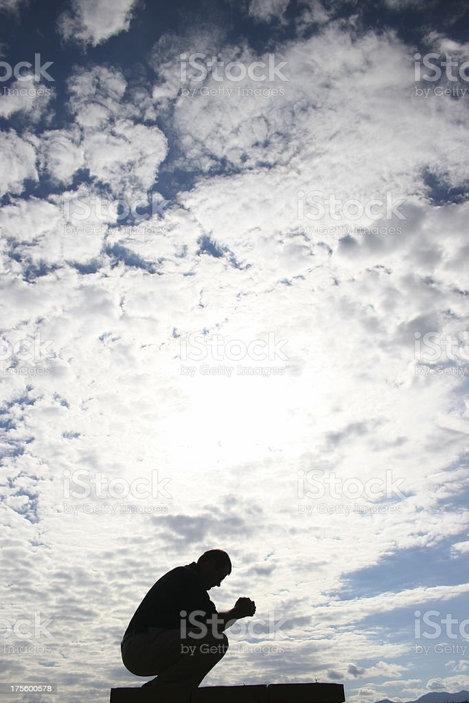 Sinner\\'s Prayer stock photo