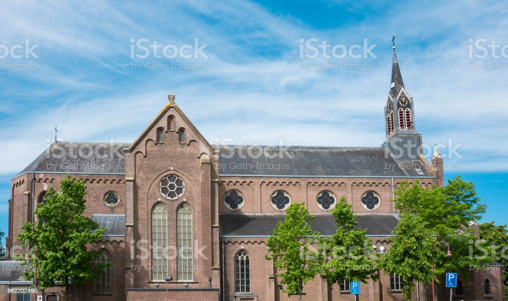 Sint Bernardus Church in Made, The Netherlands stock photo