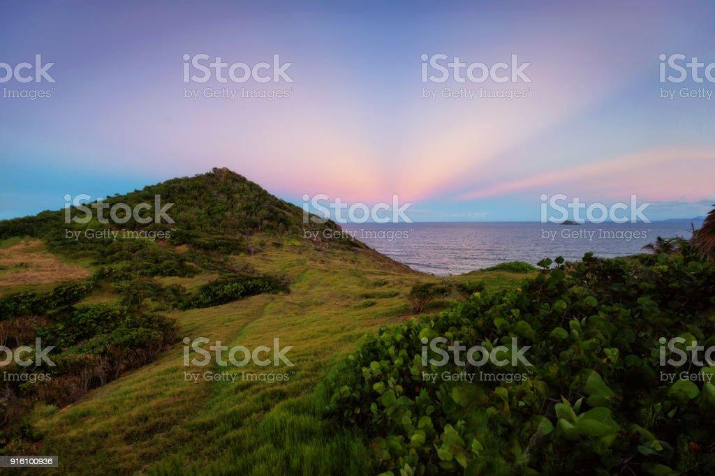 Sint Maarten Sunset stock photo