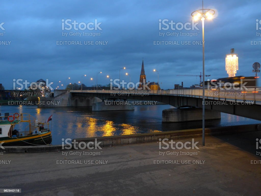 Sint Servaas Bridge in Maastricht in the afternoon stock photo