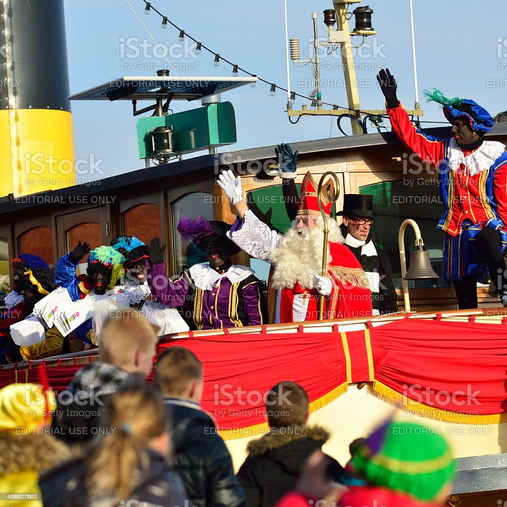Sinterklaas Arriving royalty-free stock photo