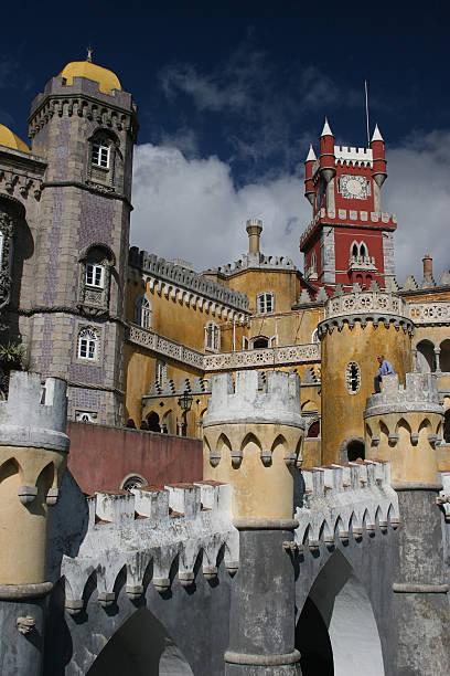 sintra castle stock photo