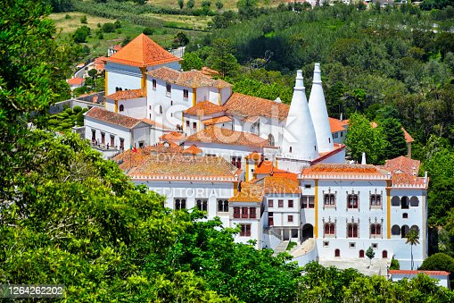The Palace of Sintra aka Town Palace, in the Lisbon District of Portugal