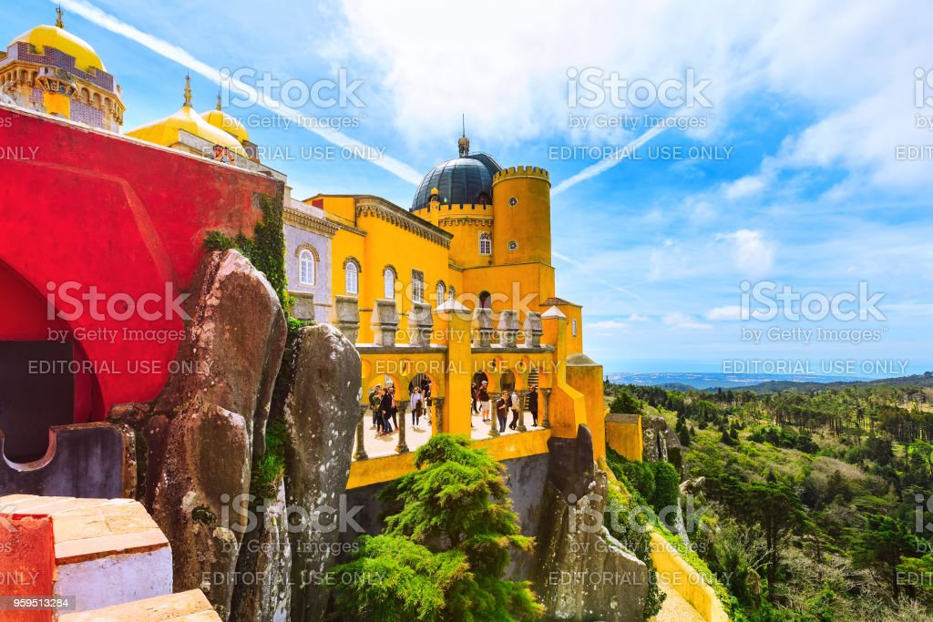 Sintra, Portugal landmark, Pena Palace stock photo