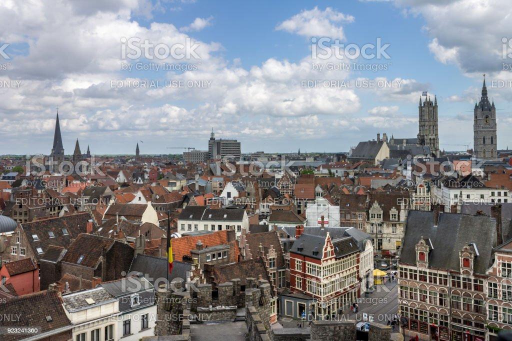 Sint-Veerleplein Square Ghent Belgium stock photo