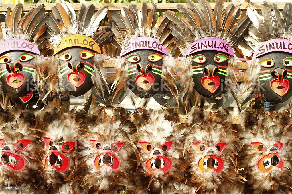 Sinulog Masks royalty-free stock photo