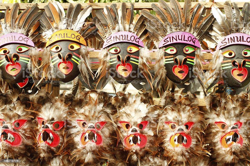 Sinulog Masks stock photo