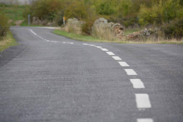 Carretera sinuosa - foto de stock
